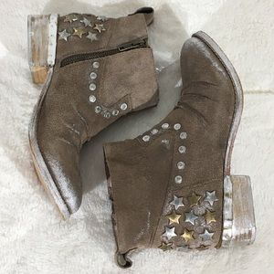 MIA limited edition Leather Distressed Booties - 7